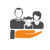 graphic icon of a family